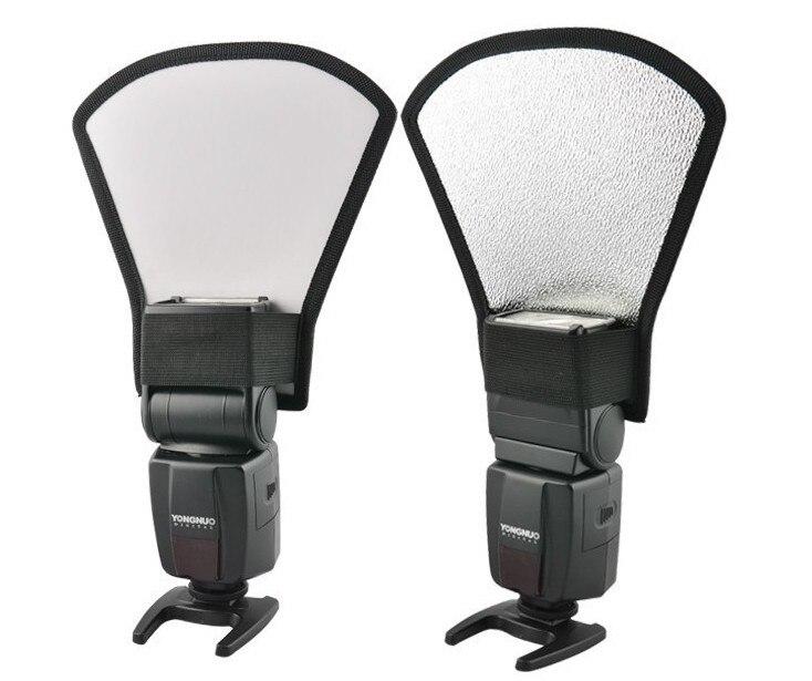 Kamera Blitz-diffusor Weichen Box Softbox Silber und Weiß Reflektor für 430ex ii 580ex ii sb800 sb900 Yongnuo yn560 Licht blitzgerät