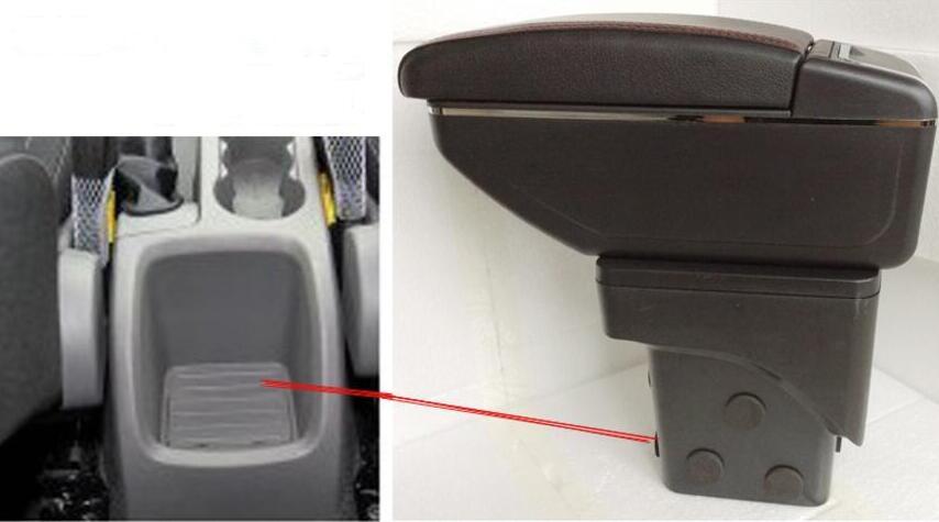 Центральный центральный консольный ящик для хранения для Ford Focus 2 Mk2 08-12 подлокотник для подлокотника