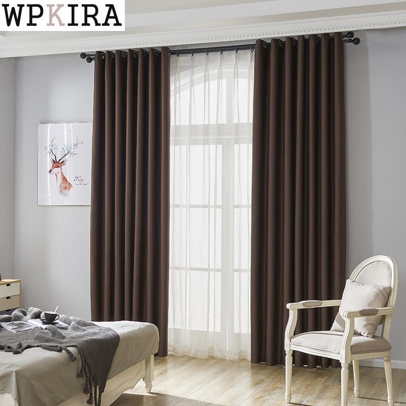 Nueva tela cortinas para sala de estar sólidas/dormitorio colorido con púrpura/verde/azul/Rosa ventana cortina de cocina persianas S067 y 30