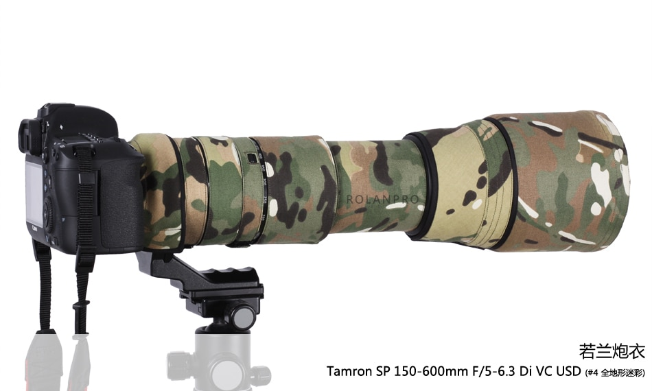 Kamera Objektiv Mantel Camouflage SP 150-600mm F/5-6,3 Di VC USD Tamron Objektiv Schutz Abdeckung Guns Kleidung Für Canon Nikon G2 A022