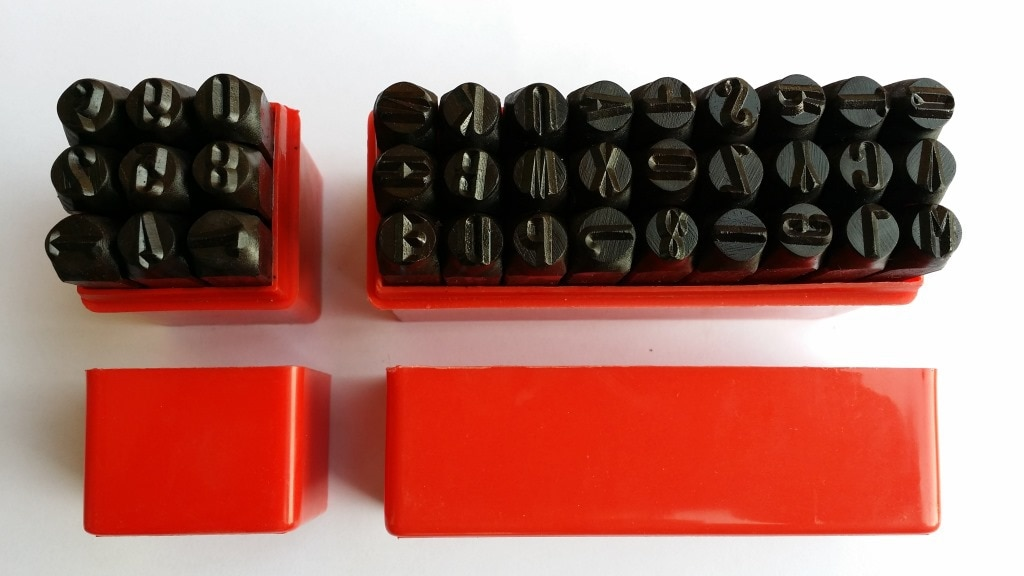 36 Uds. Sello de acero punzón alfabeto y número alfanumérico cuero tallado letras Impact Leather LOGO