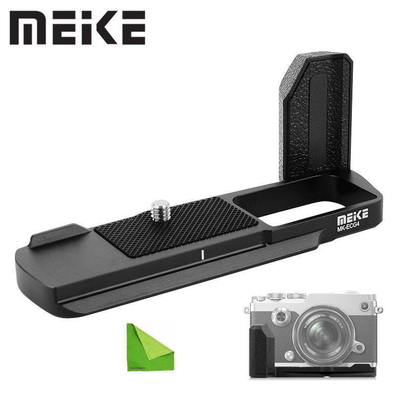 Empuñadura metálica Meike MK-ECG4 para cámara inalámbrica Olympus Pen-F (ECG-4) utilizada para trípode equipado con 1/4 agujeros de tornillo estándar