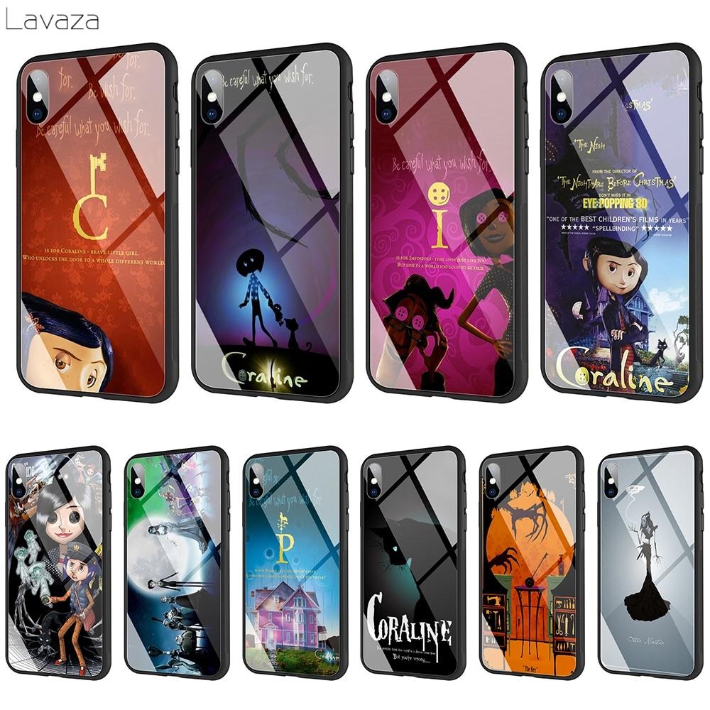 Lavaza Coraline vidrio templado TPU caso para iPhone XS MAX XR 8X8 7 6 6S Plus