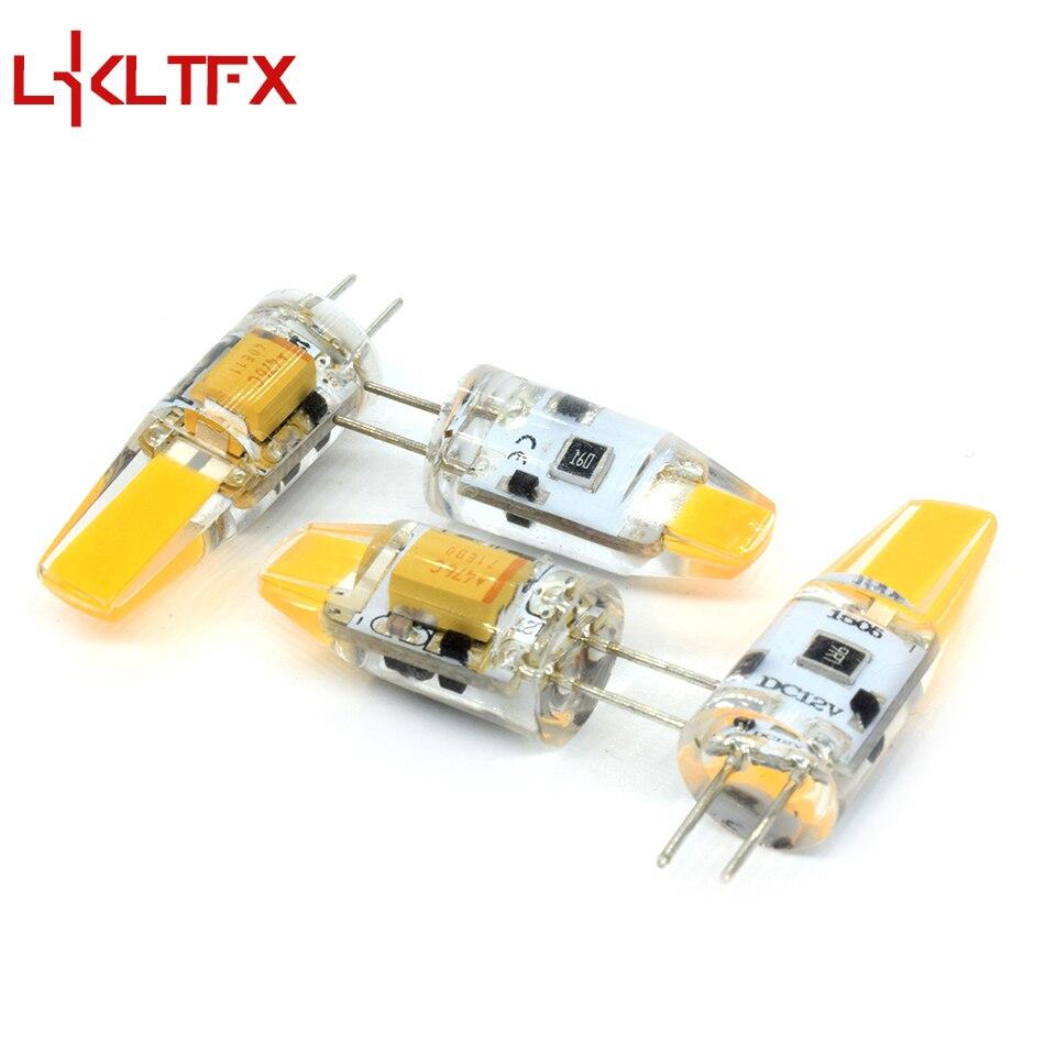 LKLTFX LED G4 lámpara bombilla AC/DC atenuación 12 V 12 V 1 W 2 W COB SMD G4 iluminación LED luces reemplazan la lámpara de araña halógena