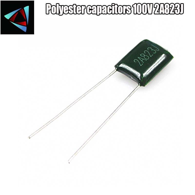 10 stücke Polyester film kondensator 2A823J 100V 82nF 0,082 uF