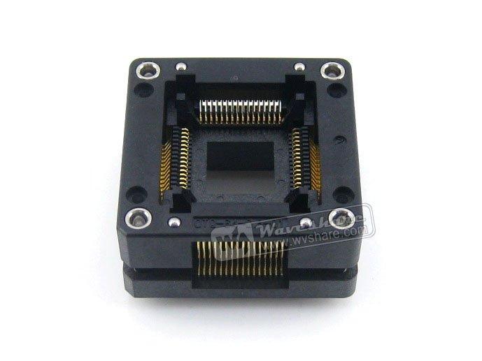 QFP64 TQFP64 LQFP64 PQFP64 Enplas OTQ-64-0.8-01 QFP IC Test rodage prise 0.8mm pas livraison gratuite