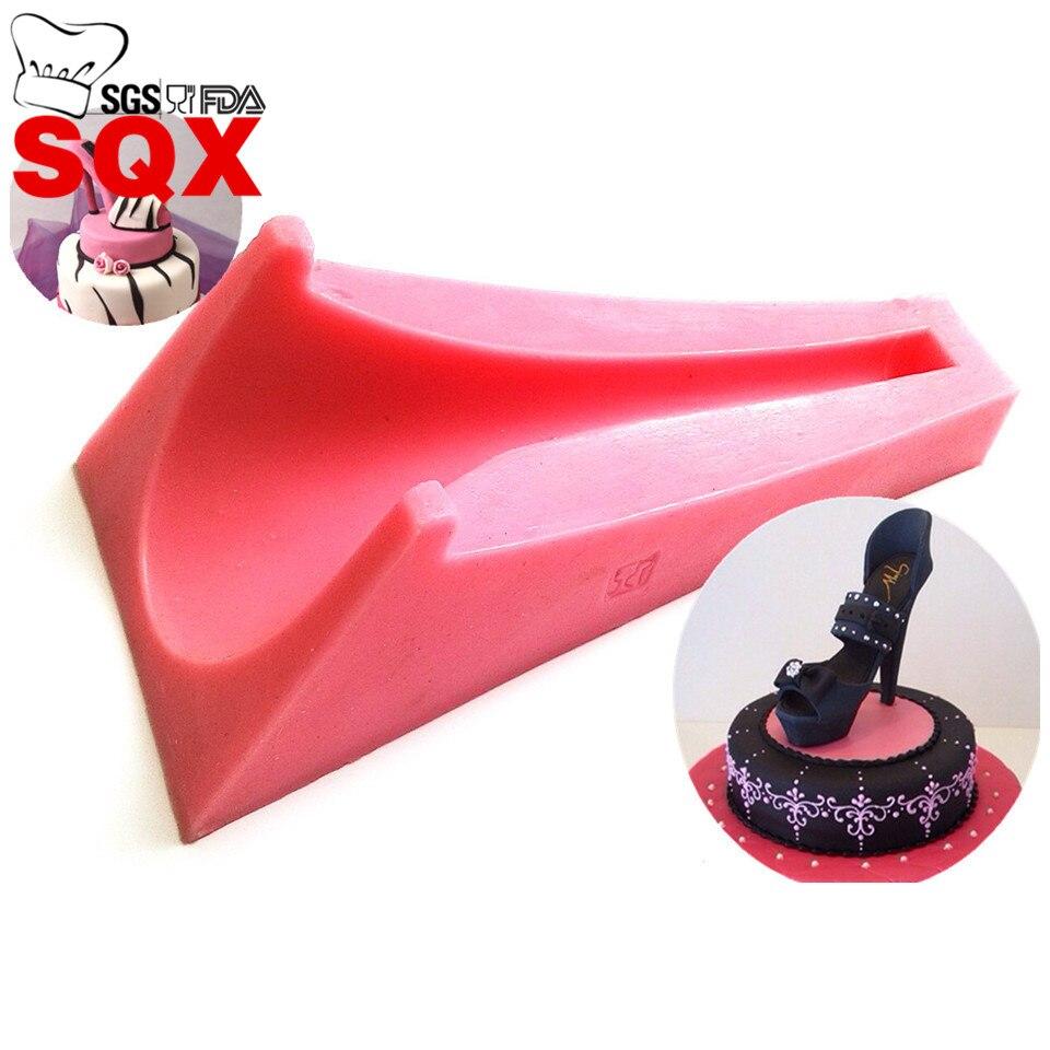 Molde de silicona para zapatos de mujer de tacón alto para decoración de pasteles de boda decoración de Navidad Cupcake Cozinha accesorios de cocina SQ15240