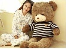huge 120cm teddy bear , brown bear plush toy  throw pillow  , Christmas gift t6897