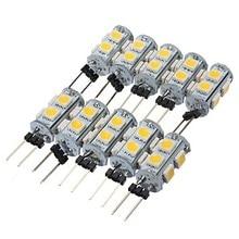 10 X HRSOD Haute Luminosité 1.3 W 9 pièces 5050SMD G4 LED Ampoule Lumière avec DC12V Dentrée, Blanc Chaud/Blanc Frais Dentrée