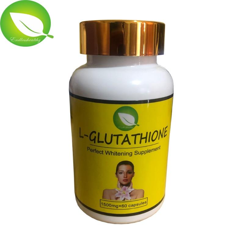 5 bottles  l-glutathione perfect whitening supplement skin whitening capsules for black skin African people use skin whitening