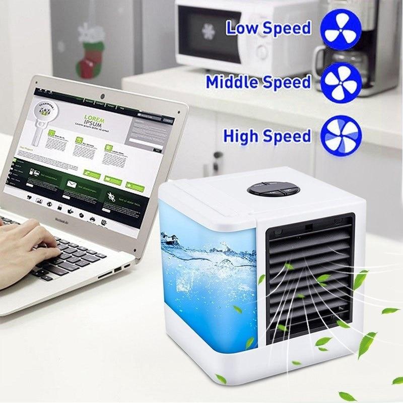 Mini ventilador de aire acondicionado portátil, refrigerador de espacio Personal, la manera fácil de enfriar cualquier espacio, escritorio de oficina en casa, aire acondicionado