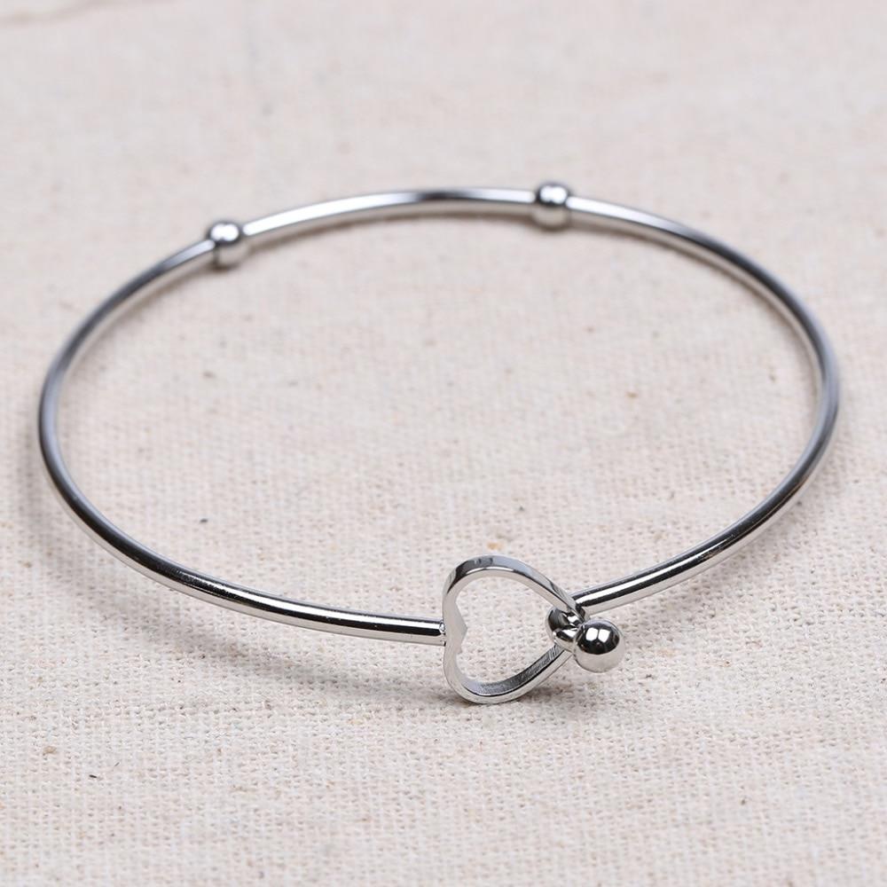 Reidgaller 5 шт. сердечная застежка из нержавеющей стали материалы для браслетов diy аксессуары для изготовления браслетов