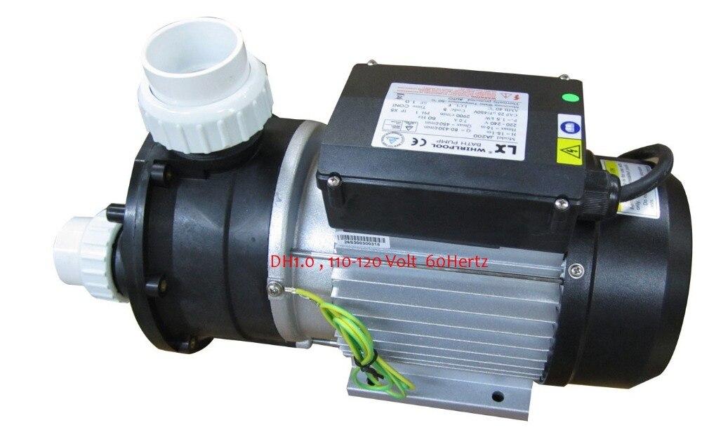Bomba de baño LX 1HP 750 W DH1.0, 110-120 voltios 60 HZ ajuste TDA100 JA100 otra bomba