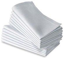 12 szt. 100% bawełny restauracja obiad tkaniny lniane białe 50x50cm PREMIUM HOTEL serwetki