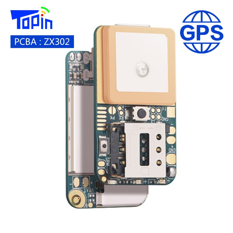 ZX302 PCBA Super Mini GSM GPS Tracker Locator Real-time Call Tracking Position Geo-Fence SOS Alarm for Children Pets Car Vehicle