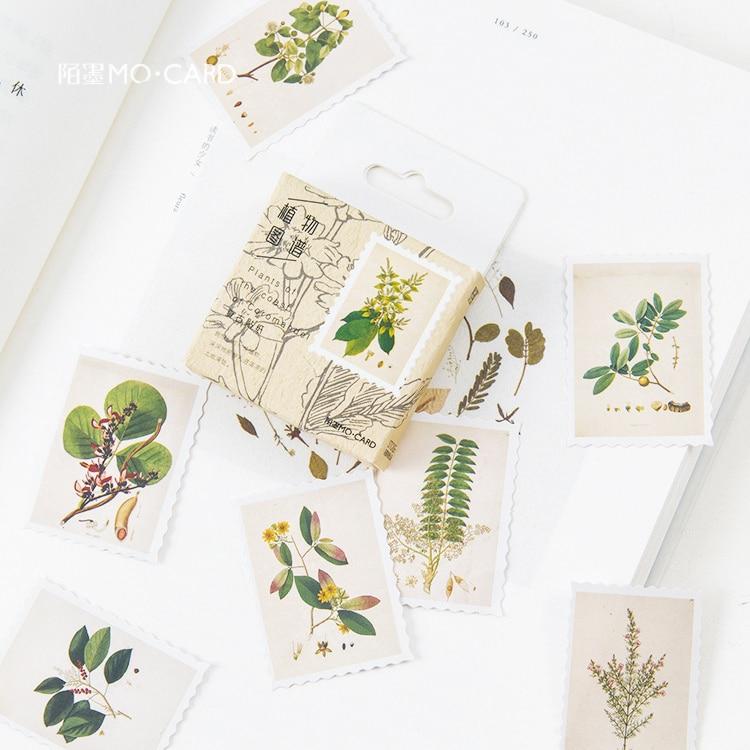 45-pz-pacco-piante-di-erbe-adesivi-decorativi-scrapbooking-stick-etichetta-diario-di-cancelleria-album-adesivi-di-giornale