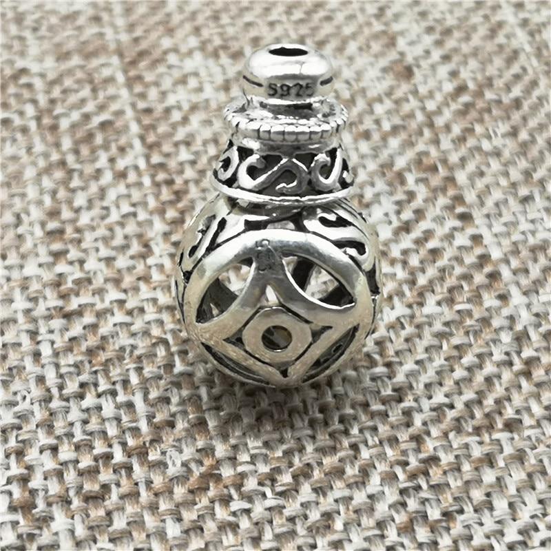 925 Sterling Silber Münze Guru Perlen Gebet Mala Armband Spacer