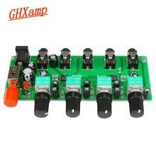 GHXAMP Stereo Audio Mixer Board 4 Manier Ingang Mengen 1 weg Audio output Drive Hoofdtelefoon Versterker NJM3414 Vier Ingang een uitgang
