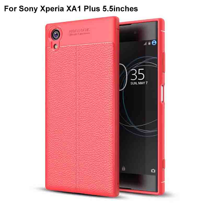 Tampa Da caixa de Luxo de Borracha de Silicone Tampa Traseira Do Telefone Caso tampa traseira Macia Para Sony XperiaXA1 Plus X A1 Mais Caso