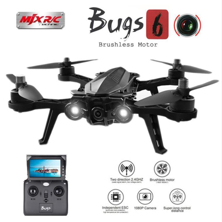 5,8G transmisión de imágenes MJX Bugs 6 B6 helicóptero profesional RC Motor sin escobillas FPV RC Quadcopter 2,4G 6 ejes Drone con cámara