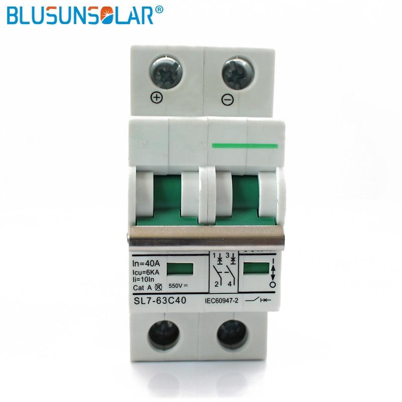 10pec 2 Pole 25a 32a 40a 50a 63a DC550V SOLARB DC Circuit Breaker Solar energie photovoltaik (pv) solar dc schalter