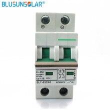 10pec 2 pôles 25a 32a 40a 50a 63a DC550V MCB DC disjoncteur énergie solaire photovoltaïque (pv) solaire dc commutateur