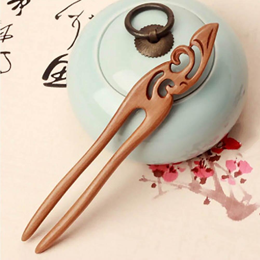Horquillas de madera Natural hechas a mano estilo chino Retro Vintage para el pelo de las mujeres accesorios de joyas para el pelo JL