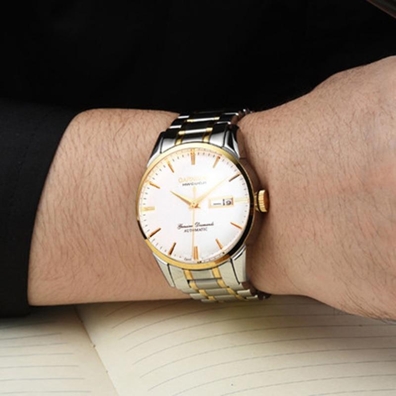 Switzerland Carnival Top Brand Luxury Men Watches Automatic Self-Wind Watch Men Sapphire reloj hombre relogio clock C8646G-9