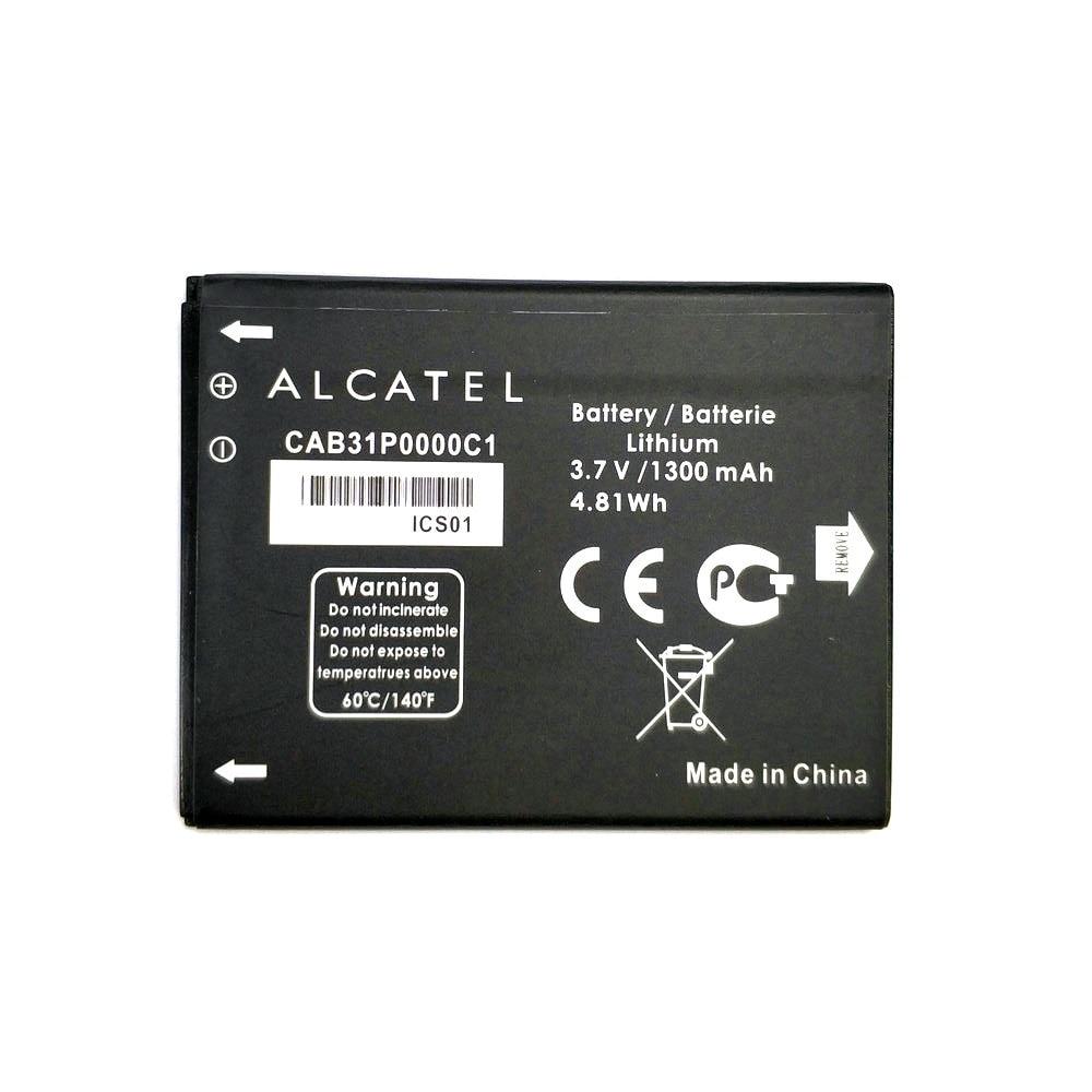 1 pièces 1300mAh CAB31P0000C1 batterie pour Alcatel One Touch C3 OT 990 / TCL W969 A919 A966 I908 téléphone + code de suivi