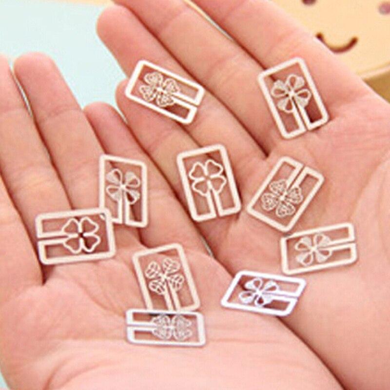 Super mini 50 peças de metal bookmark forma dos desenhos animados livro marca papelaria decorações do livro presentes prêmio miúdo escola escritório marcador