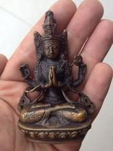 TNUKK  Antique Avalokitesvara Tibetan buddha Bodhisattva Buddha Statue Decoration