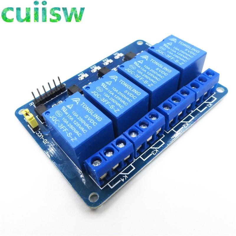 4-Канальный Релейный Модуль 4-щит управления каналами реле с оптомуфтой. Релейный выход 4-ходовой релейный модуль для arduino