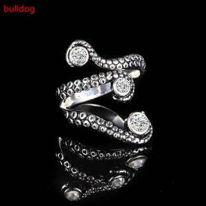 Cool top quality Deep sea Octopus finger ring with  Rhinestone fashion jewelry opened Adjustable size Wedding band