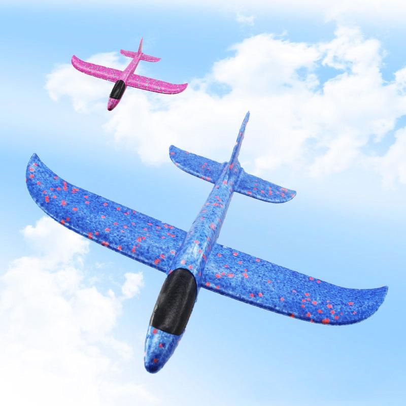 DIY 35 cm kinder Spielzeug EPP Schaum Außen Launcher Werfen Flug Segelflugzeug Flugzeug Modell Party Kinder Flug Spiel Spaß spielzeug Geschenk