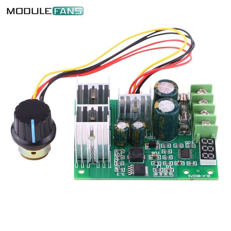 Módulo controlador de velocidad del Motor PWM 30A, regulador de corriente + DC6-60V de pantalla