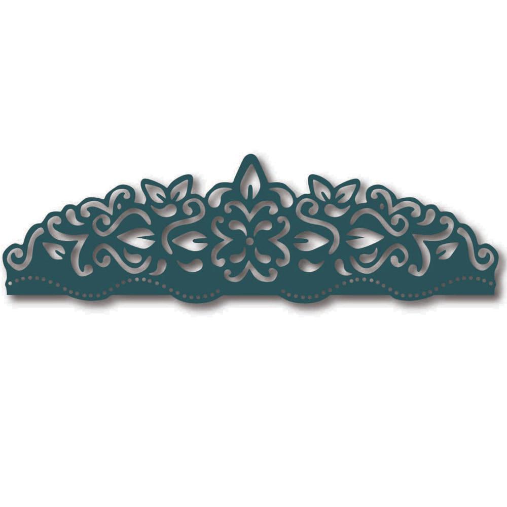 Hemere Flower lace edger Metal Cutting Dies Stencils for DIY Scrapbooking Stamp/photo album Decorative Embossing die Paper Cards
