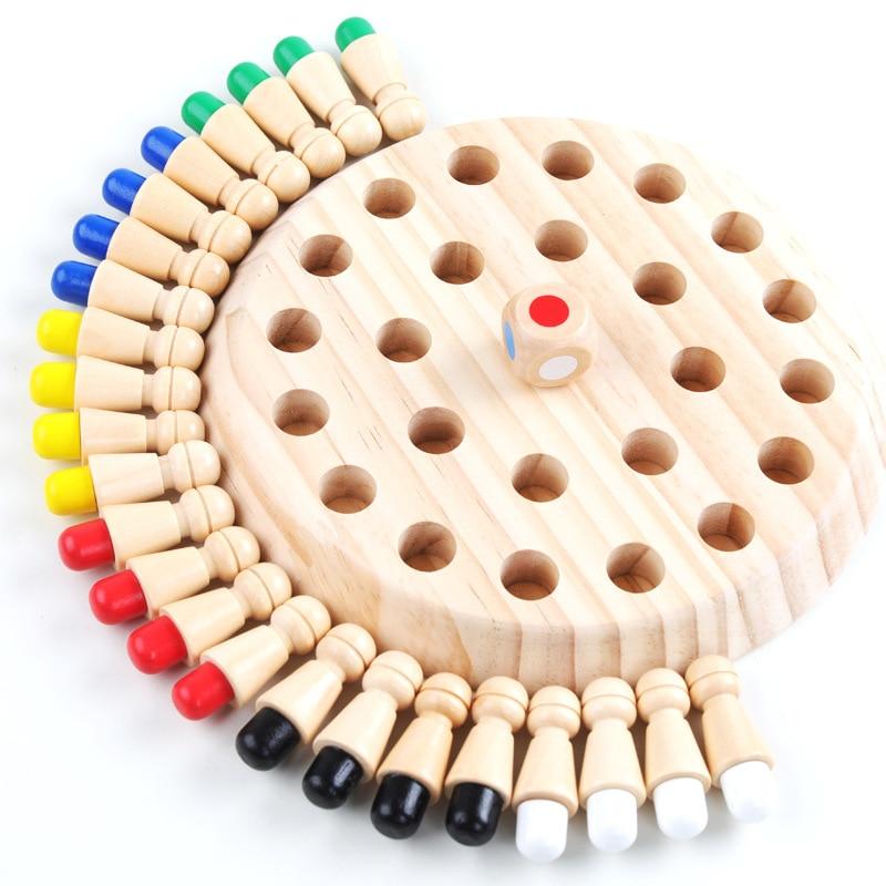Детские Вечерние игры Деревянная Карта памяти для игры в шахматы забавная настольная игра с блоком обучающая цветная Когнитивная игрушка д...