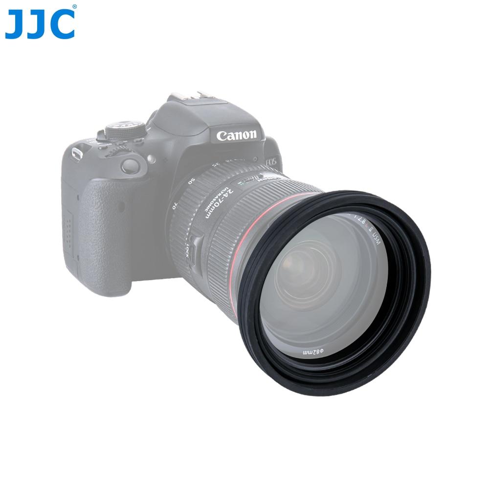 JJC Universal 1 Bühnen Faltbare Silikon Standard Objektiv Haube 77mm 82mm 86mm 95mm Kamera Objektiv Protector