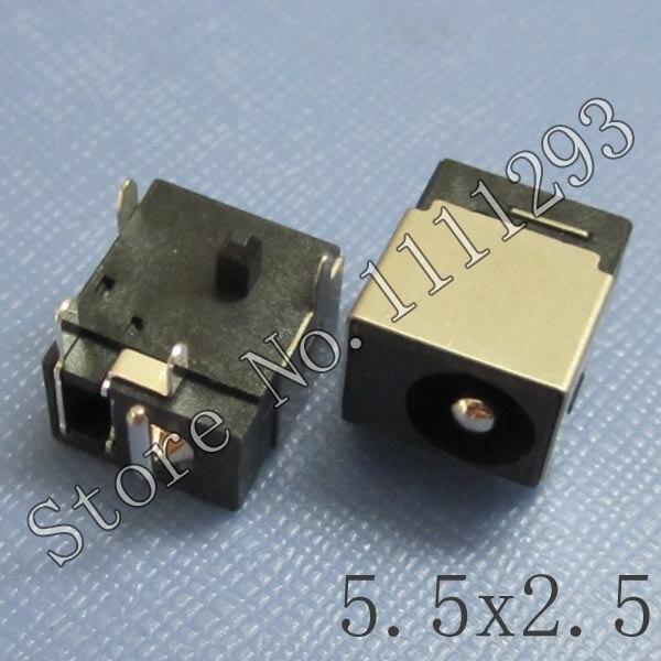 20 pçs/lote DC Power Jack Conector para Asus N10J N53SV N53 N53J N71VG N71JV N53JF N53JQ N53S NX90JQ K73SD K73SV K73E X73E K73TK