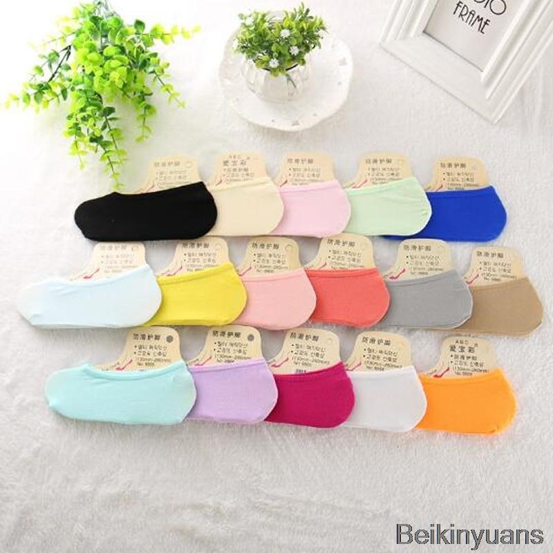 Calcetines de color caramelo barco medias transpirables para verano casual chica sé divertido moda salvaje calcetines invisibles niño niña