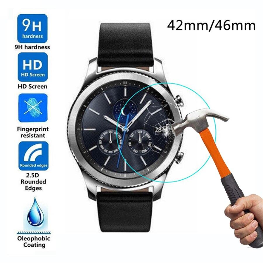 Cristal templado para reloj Samsung Galaxy, Protector de pantalla, pulsera, película protectora, Protector, Anti explosión, Anti-rotura, 42mm, 46mm
