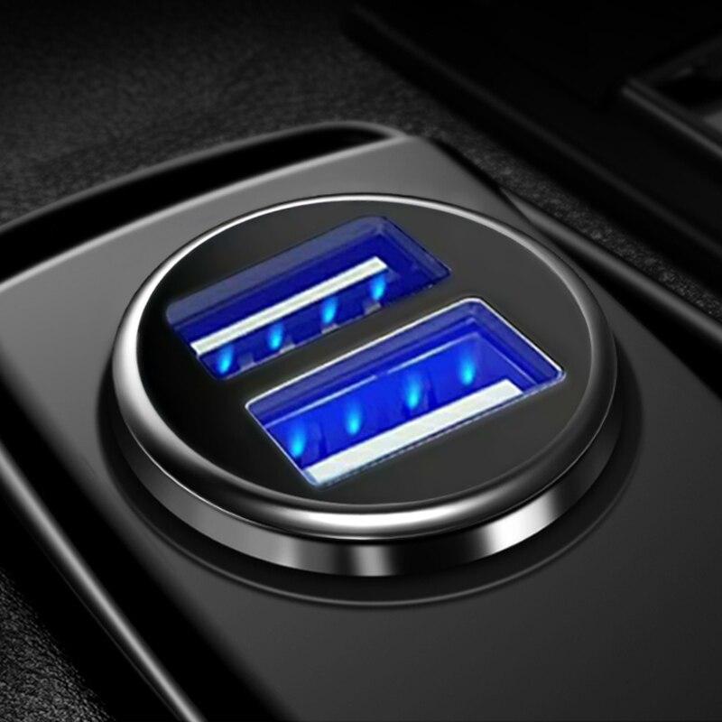 3.1A 2 порта двойное зарядное устройство USB розетка для автомобильного прикуривателя с напряжением зарядка ЖК-дисплей USB адаптер питания зарядное устройство 12В 24В