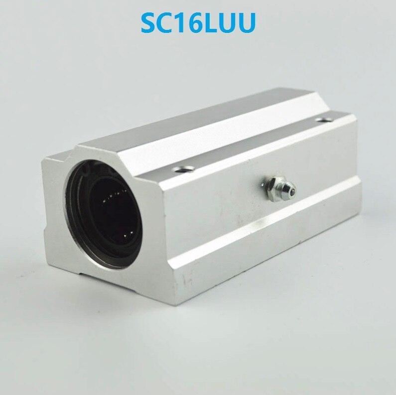 10 قطعة/الوحدة SC16LUU SCS16LUU طويل نوع خطي حالة وحدة الخطي اضعا الكرة انزلاق كتلة ل 16 مللي متر رمح خطي CNC راوتر جزء