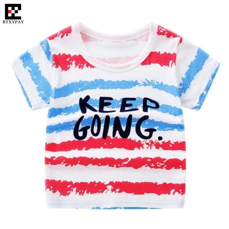 2019 Cool Summer Parent-child T-shirts 100% Cotton Kids Boy&Girl Family Matching Outfits Short Sleev
