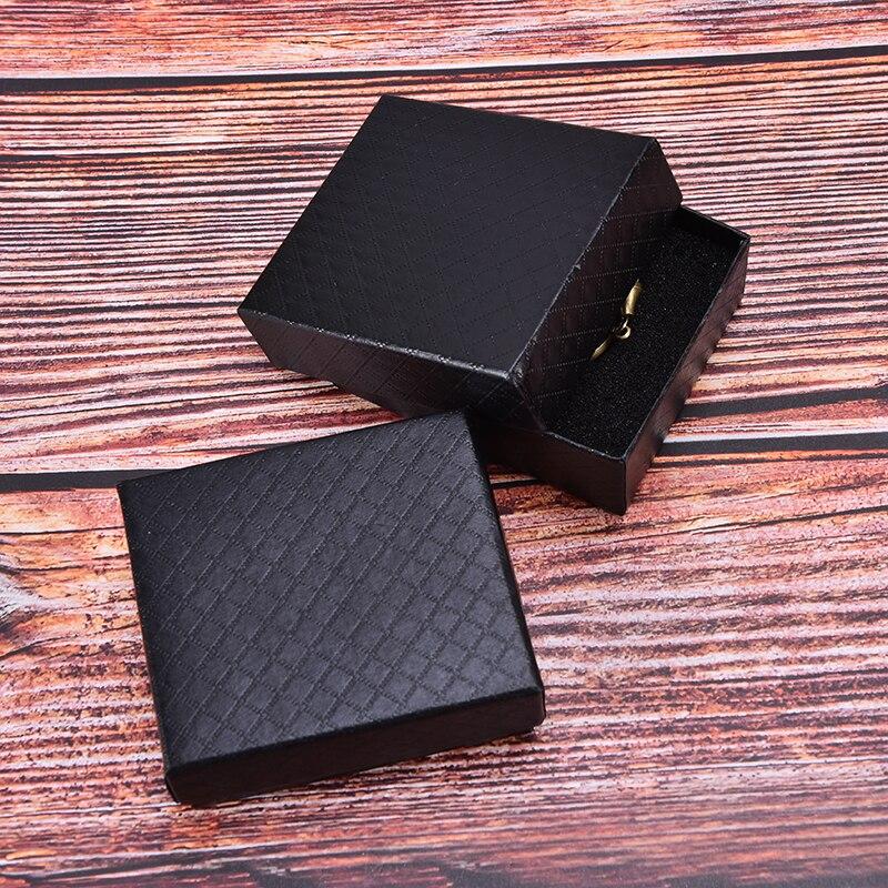 Caja de reloj de bolsillo caja de cartón negro Cajas de Regalo reloj caja de papel