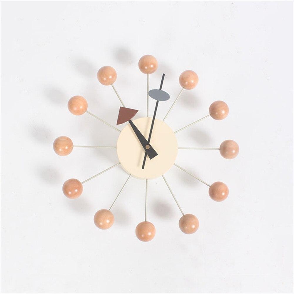 Reloj de pared creativo Deco Candy reloj noria rueda reloj Fondo elegante minimalista Circular coloridos bolas Relojes de pared