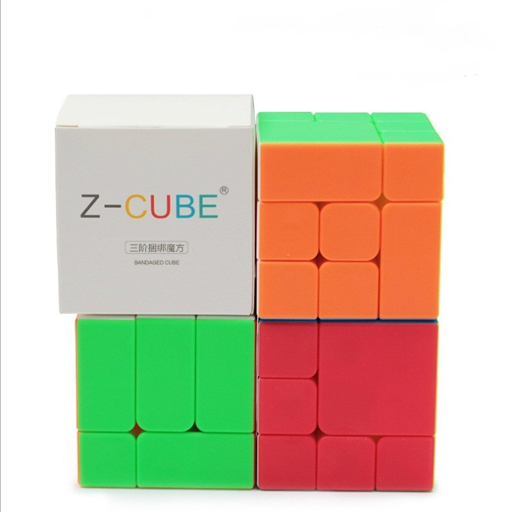 new 3x3 torsion magic cube magnetique coloful twisted cube puzzle toy stickerless puzzles colorful educational toy bandaged cube New ZCube Bandaged 3x3x3 Cube stickerless 3x3 magic cubes Professional Brain Teaser Puzzle Cube for magico Cube Educational Toys