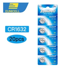 Литиевые Батарейки CR1632 CR 1632 ECR1632 DL1632 KCR1632 LM1632 3V для игрушек, часов, 4 карты, 20 шт. button cell battery cell batteriesbutton cell   АлиЭкспресс