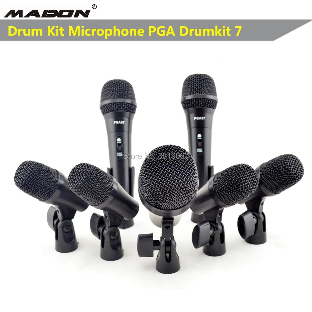 Envío Gratis, PGA DrumKit7 micrófono dinámico con cable, micrófono drumkit, PGA52 x 1 , PGA56 x 4 , PGA57 x 2