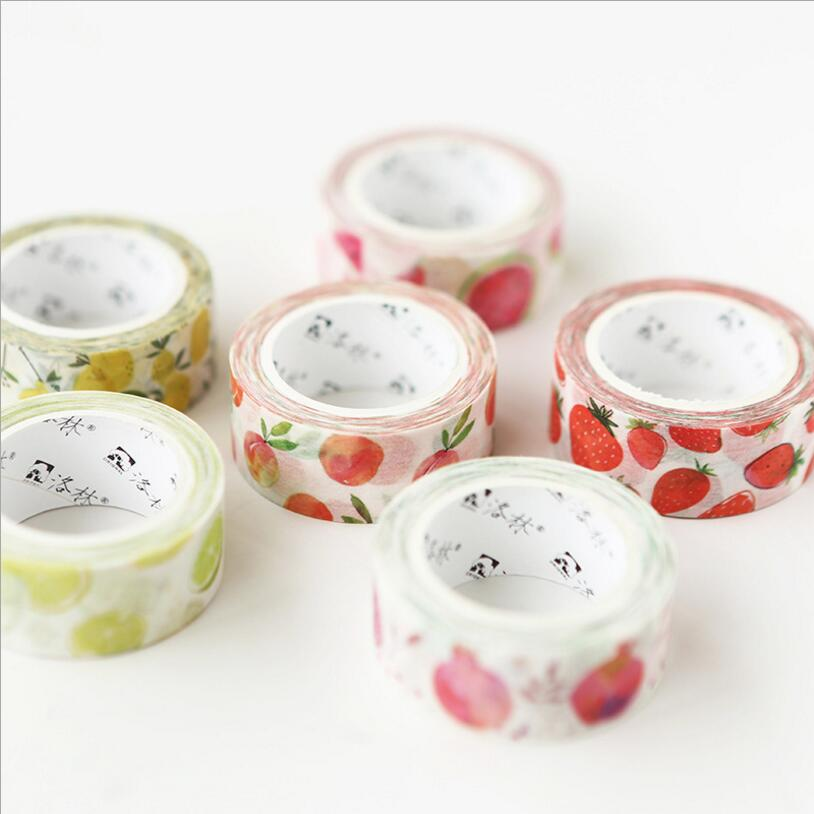 1 sztuk lato małe świeże ręcznie malowane akwarela owoce serii taśmy garnitur DIY materiał dekoracyjny childeren artykuły papiernicze artykuły